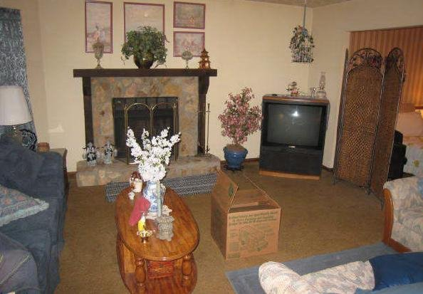living room before - listing photo
