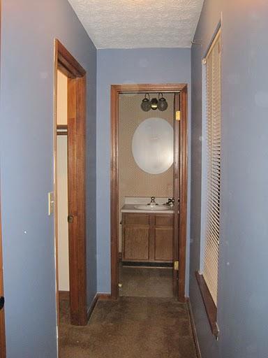 master bedroom hallway - before
