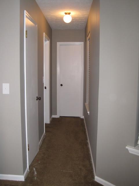 master bedroom hallway - gray