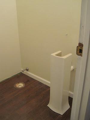 powder room pedestal sink