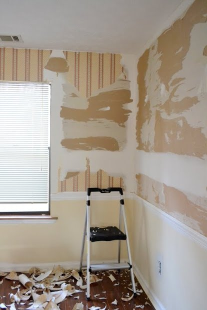 Painting prep after drywall repair ugly duckling house - Best one coat coverage interior paint ...