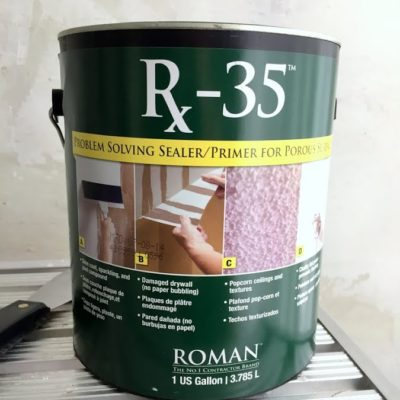 how to seal damaged drywall - use rx35 to seal torn paper