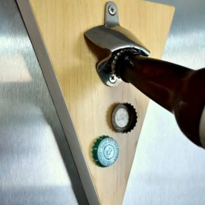 scrap wood challenge magnetic beer bottle opener