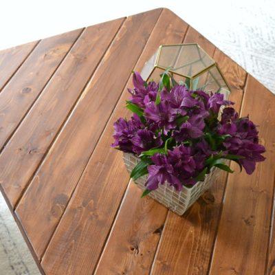 hairpin leg coffee table from 2x4 lumber - DIY