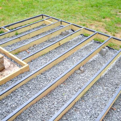 floating deck frame