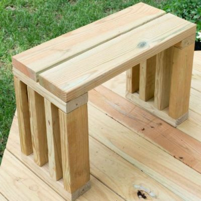diy scrap wood outdoor bench seat - garden bench plans
