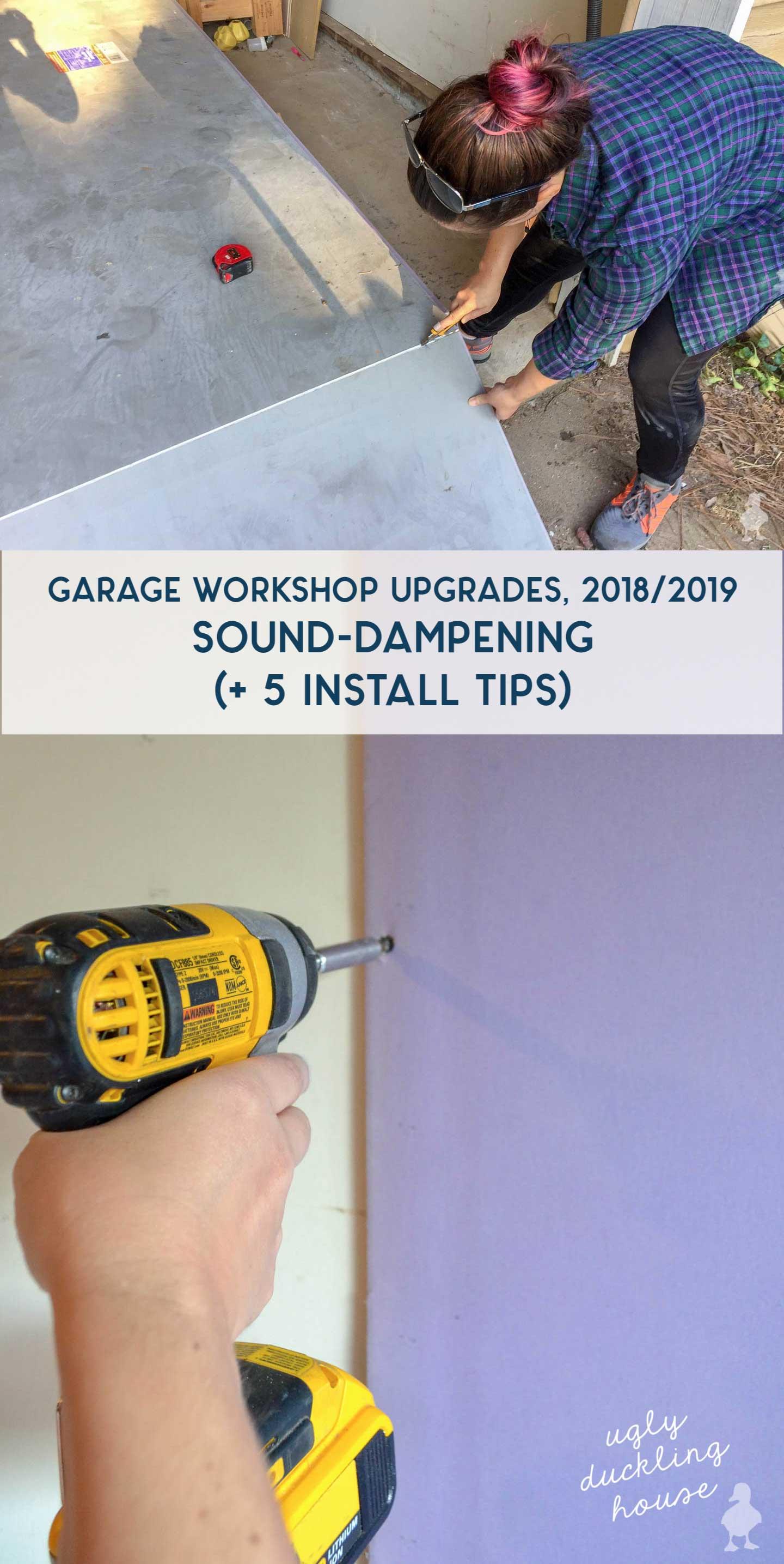 garage workshop upgrades sound dampening drywall