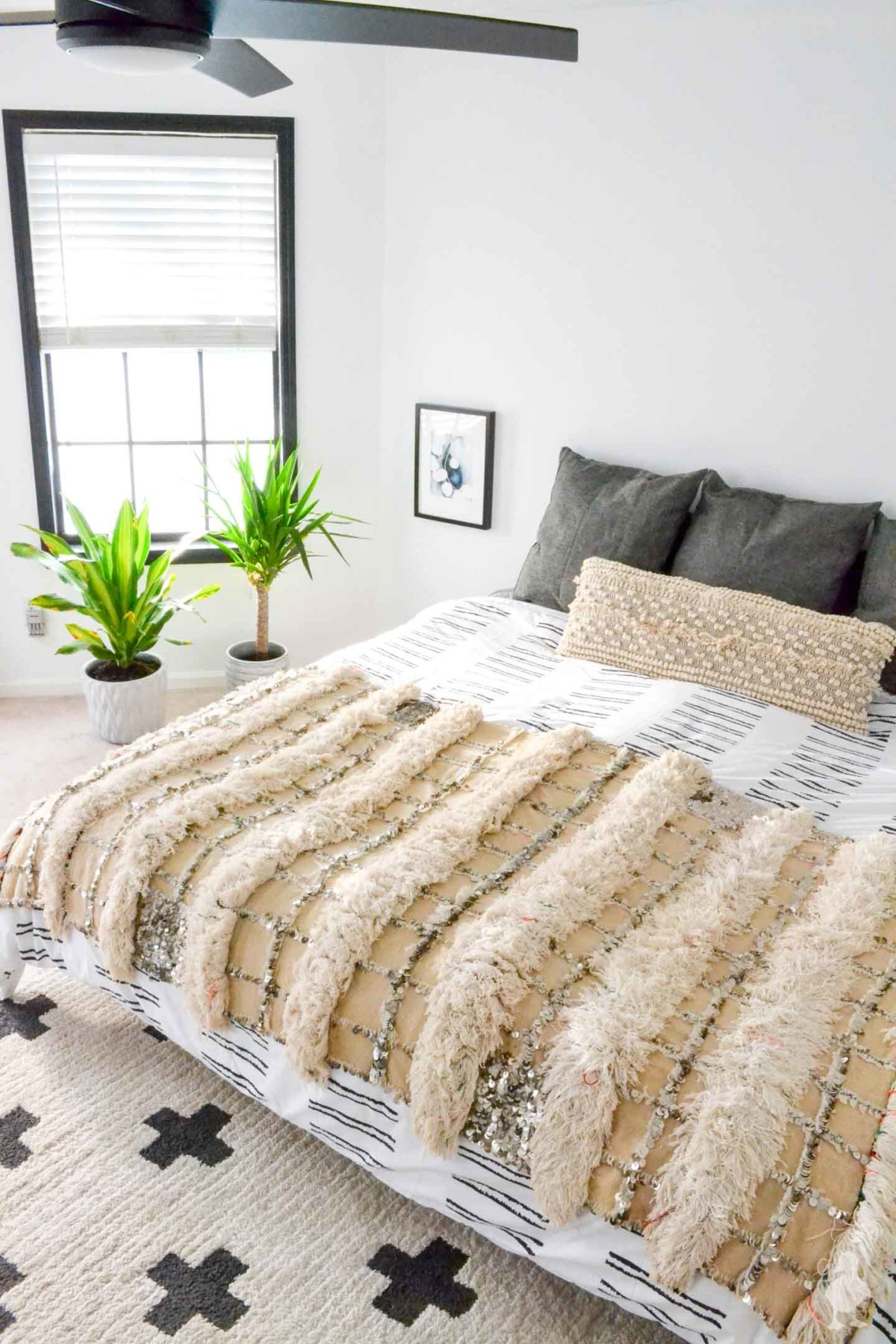 master bedroom white and bright makeover