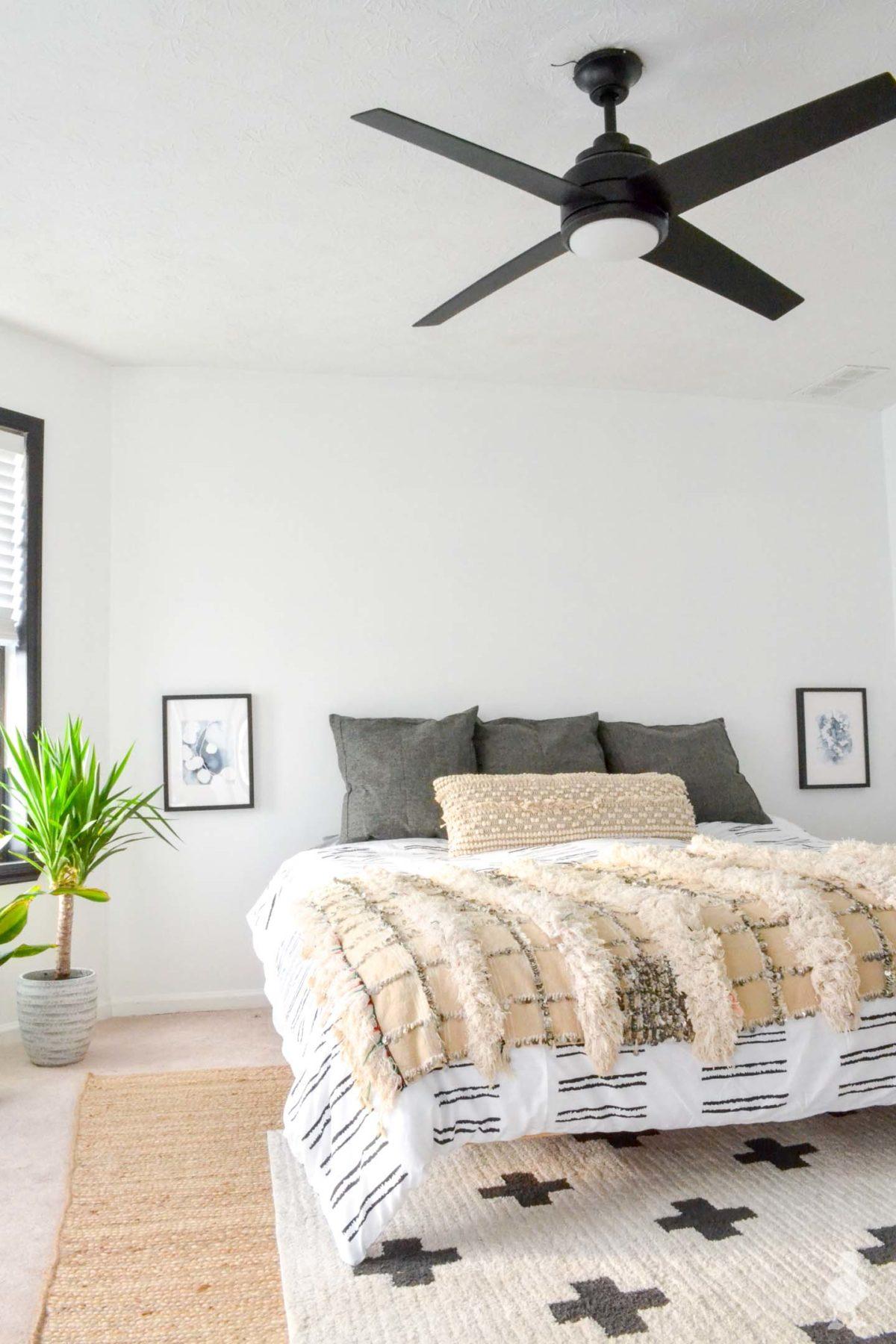 master bedroom - white bedding