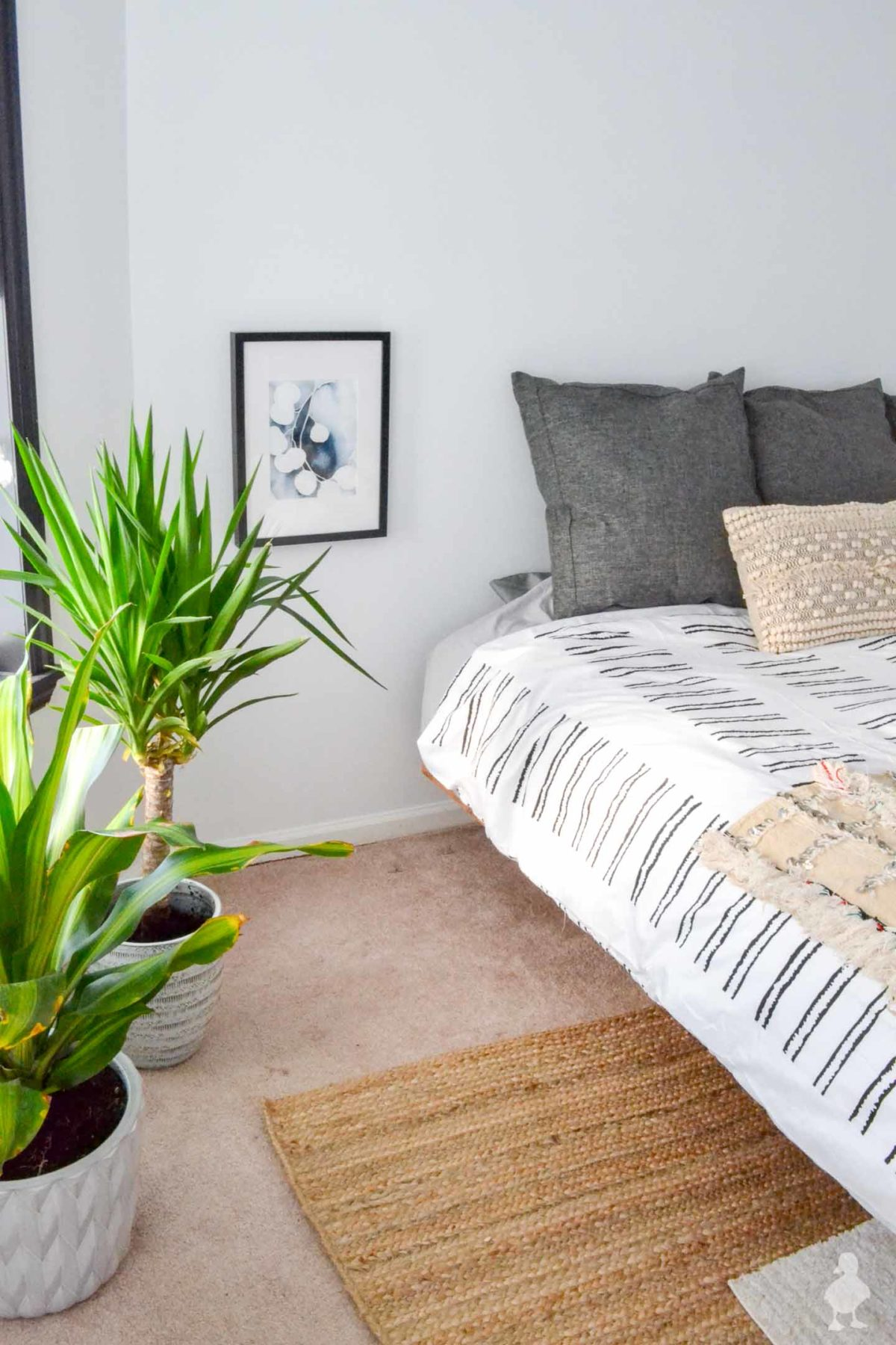 master bedroom white and bright makeover with gray and ivory accents-4