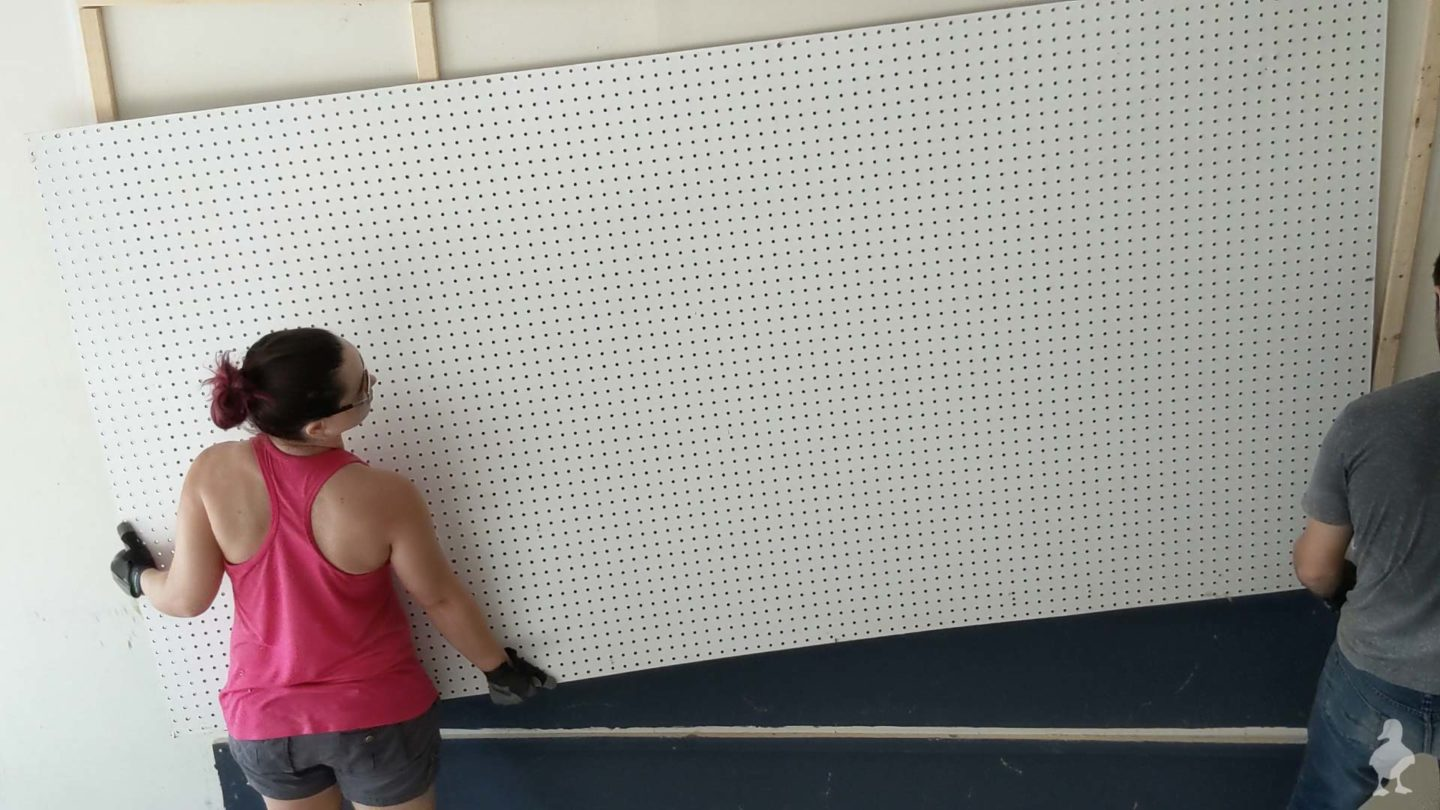 removing old pegboard wall