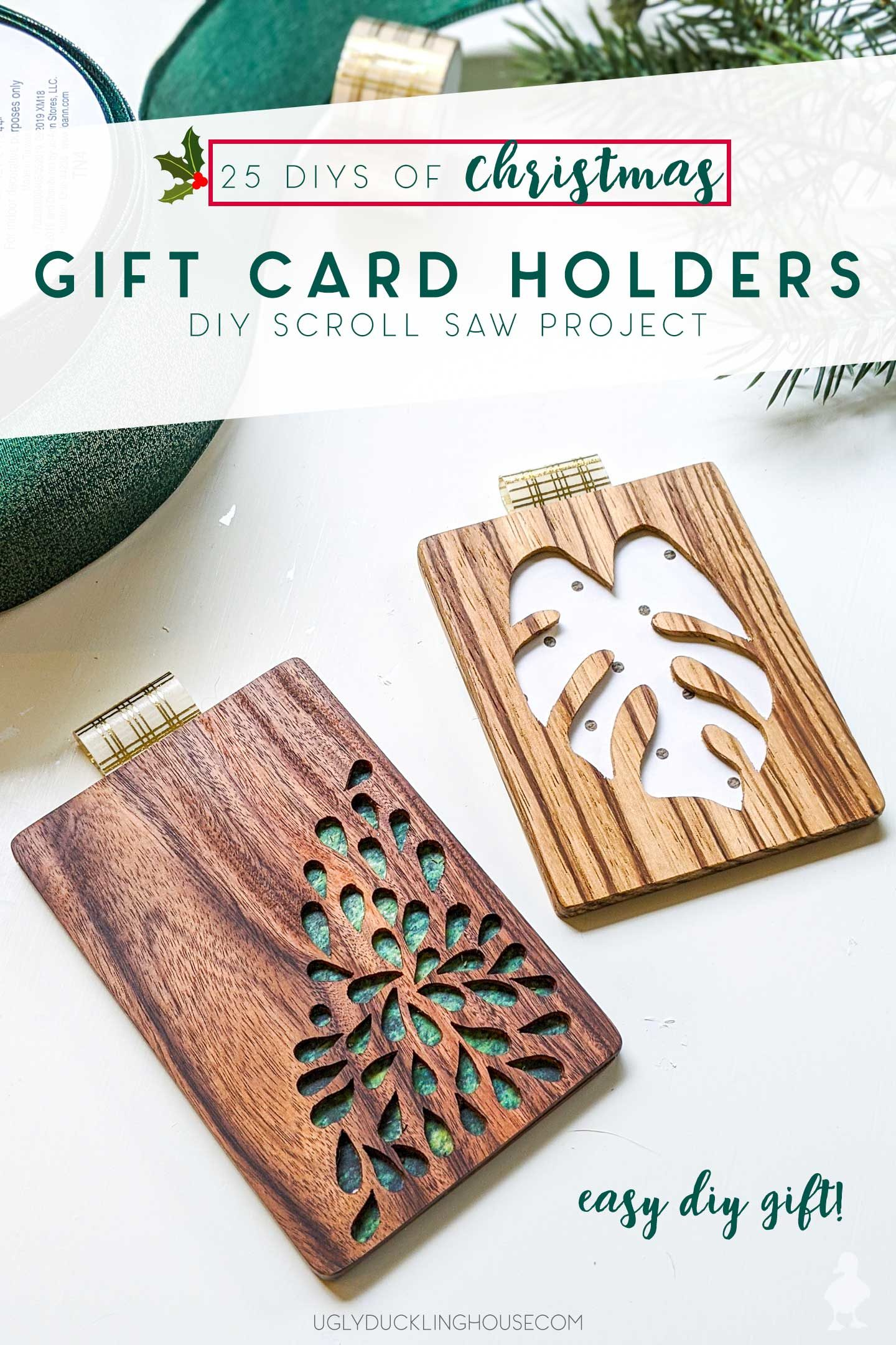 gift card holder diy scroll saw project