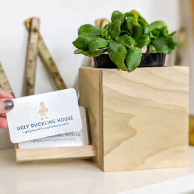 planter and business card holder
