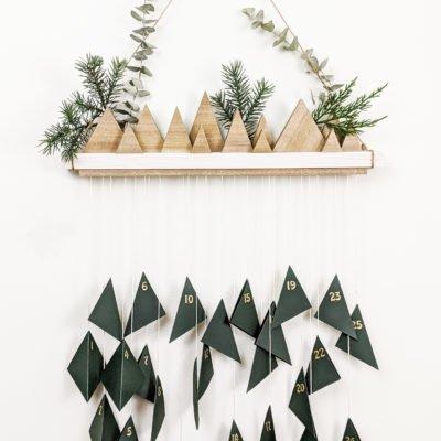 DIY wooden advent calenar