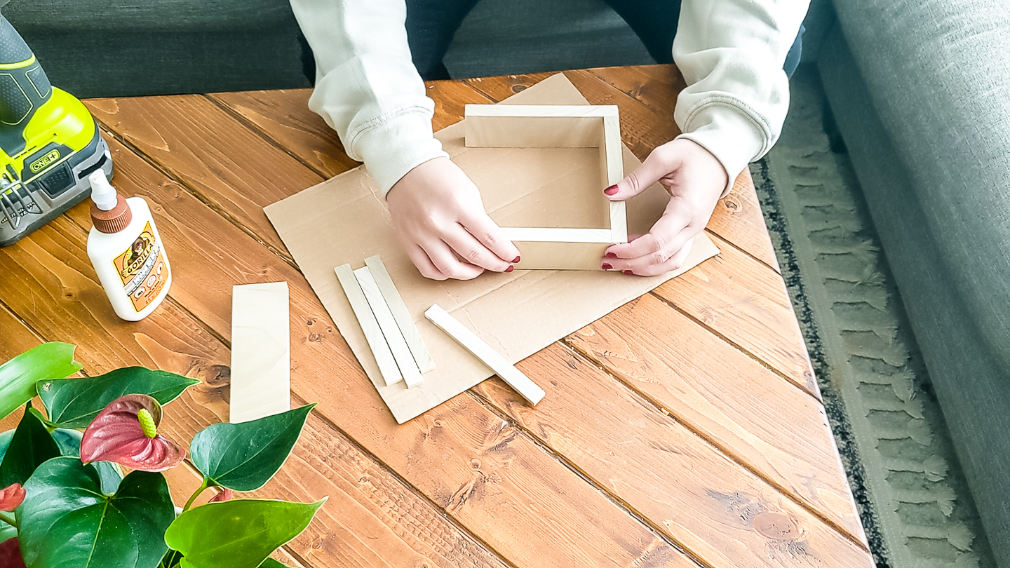 glue and nail the basic frame together