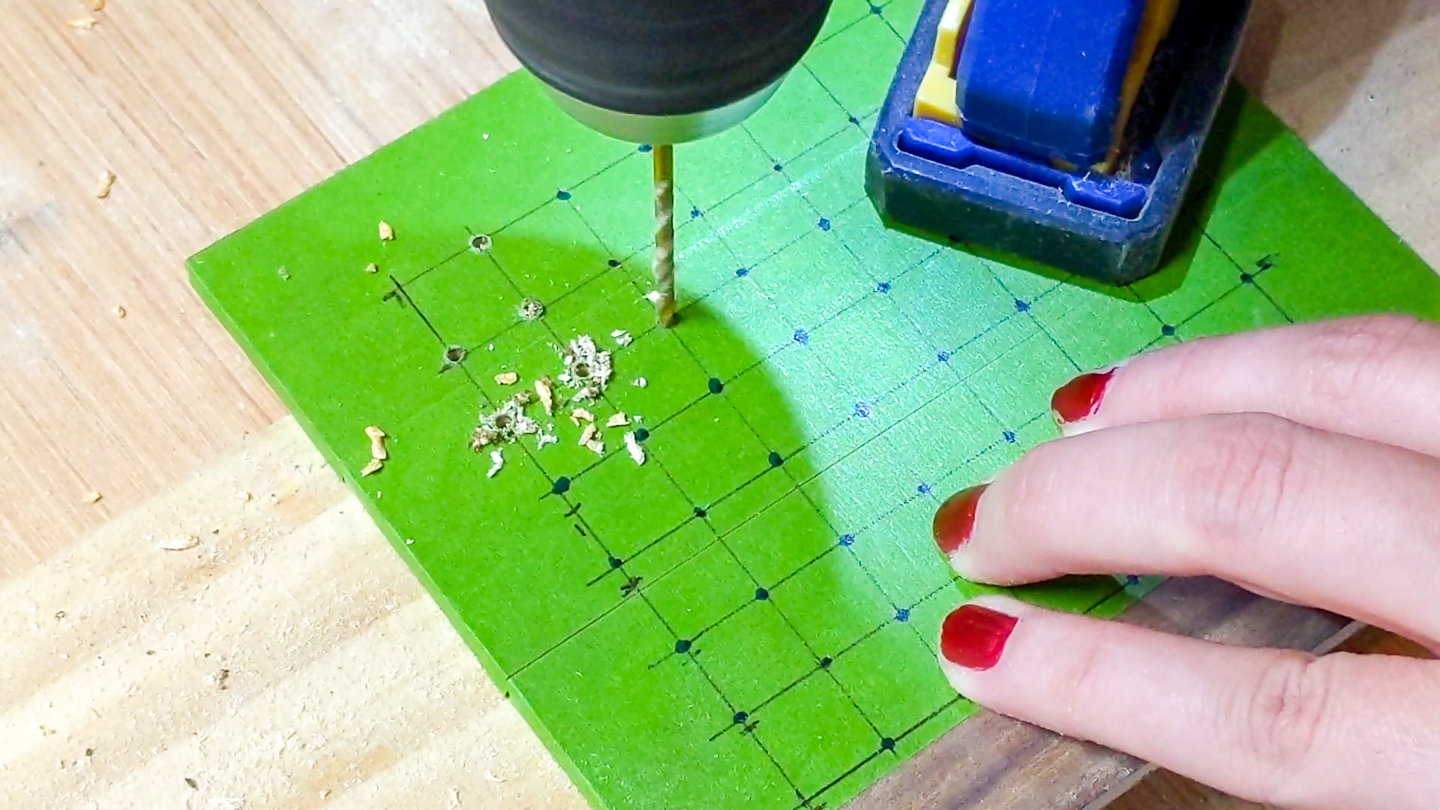 drill holes for earrings