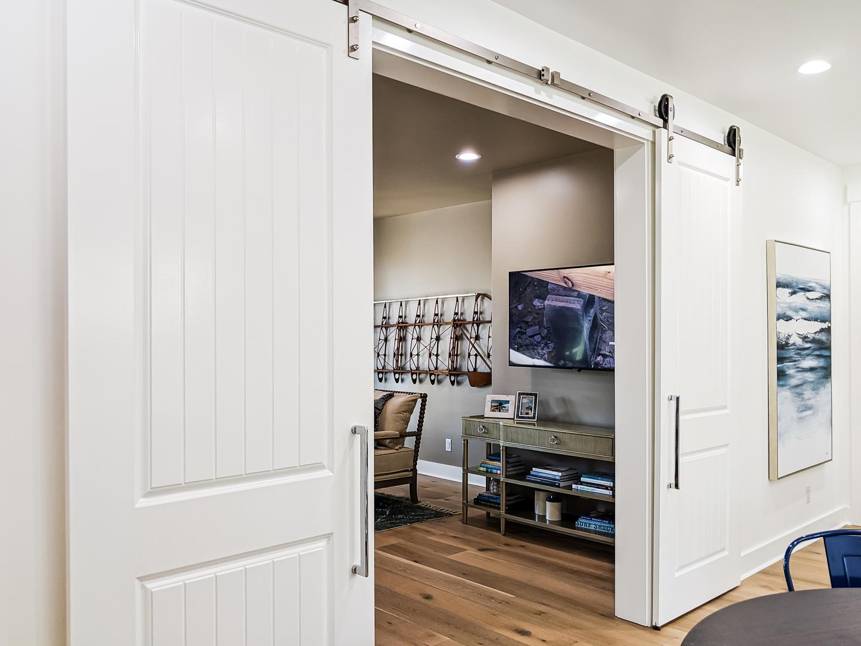 barn door outside multipurpose family room