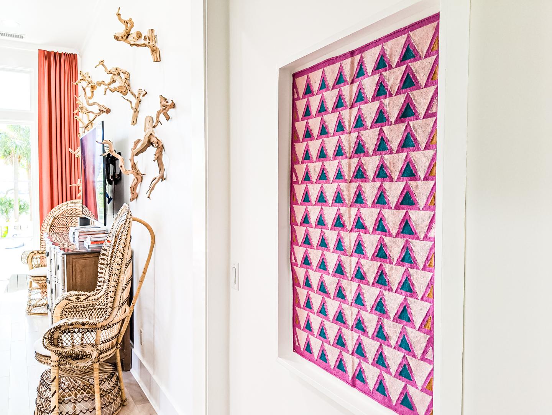 small rug as art