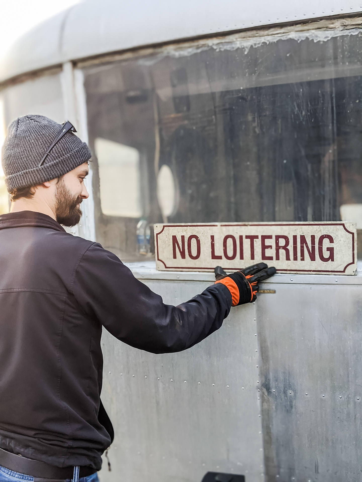 no loitering sign on Ruby
