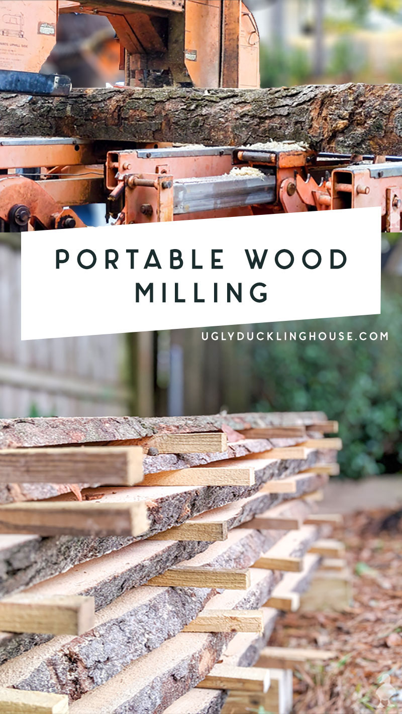 How I turned trash destined for the wood chipper into wood slab treasure thanks to a tolerant neighbor and a portable sawmill.