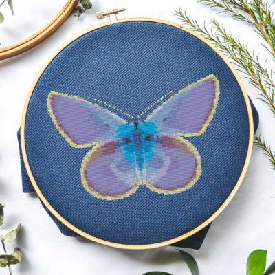glowing butterfly cross stitch pattern