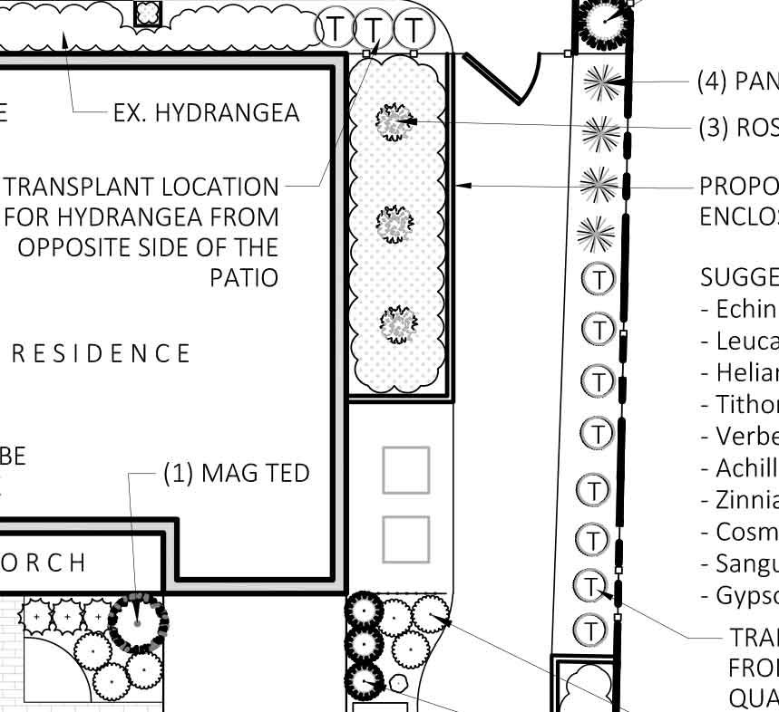 right side of yard design