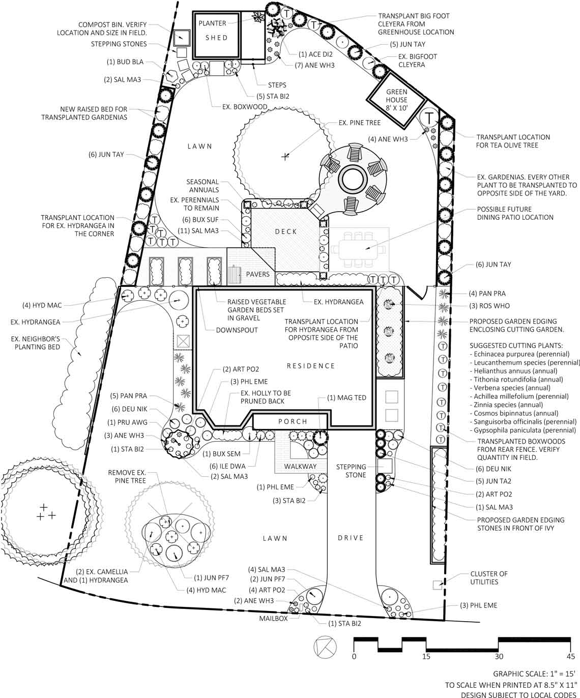 tilly virtual landscaping design plan for front and total yards