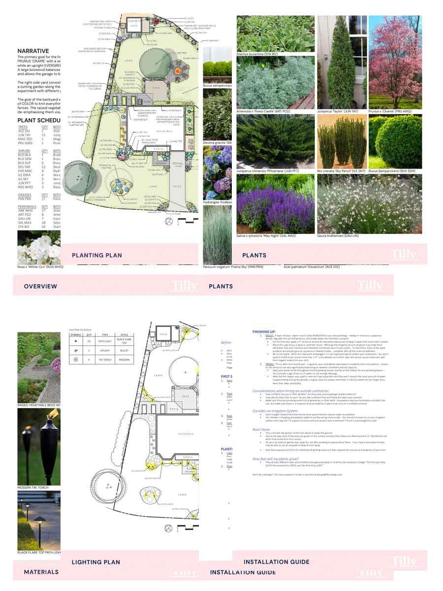 tilly professional virtual landscaping design plan