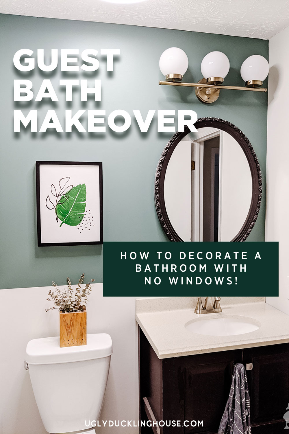how to decorate a small bathroom with no natural light