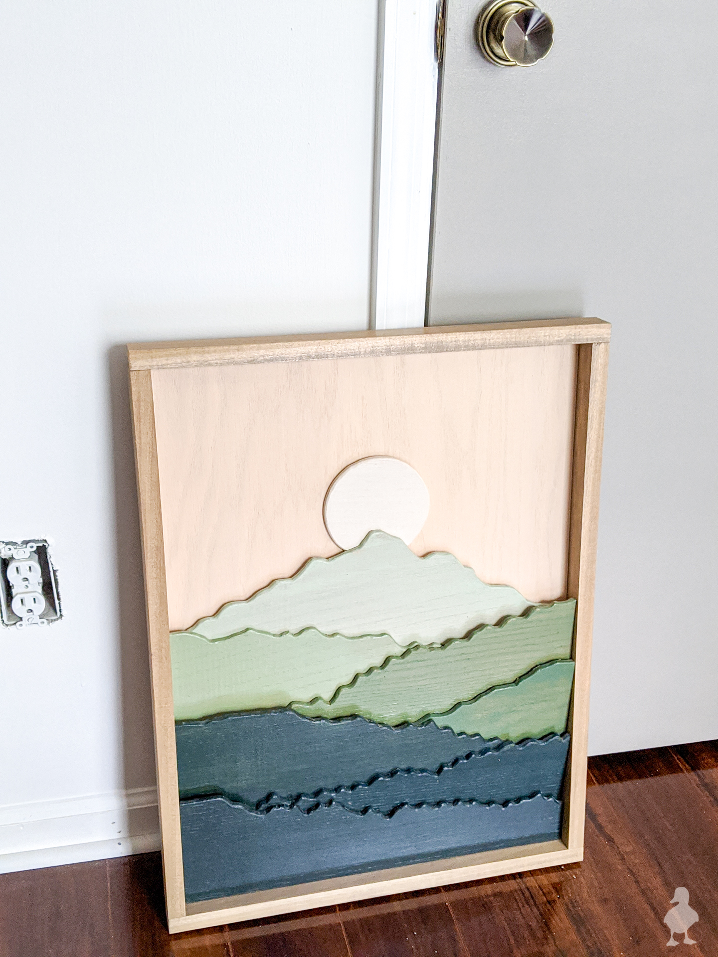 add a frame before hanging