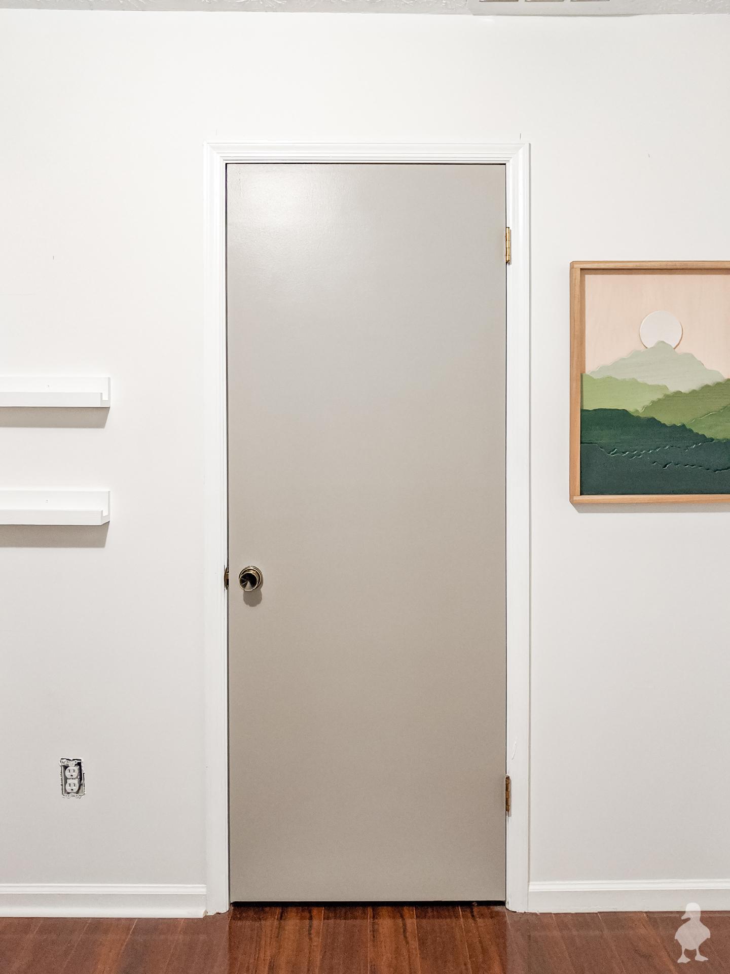 working on the nursery - progress gray wall and new art